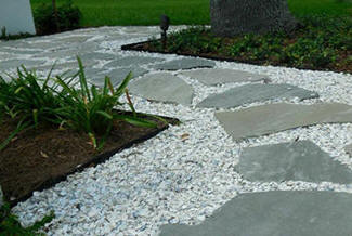 Washed shell crushed gravel tampa washed shell gravel for Crushed oyster shells for landscaping